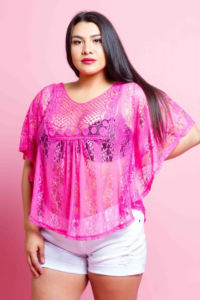 Plus Size Sexy Lacey Blouse
