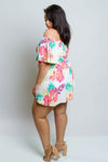 Plus Size Hawaiian Matching Set