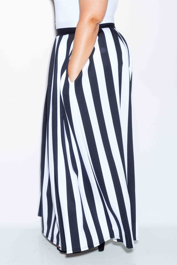5247d746f7 Plus Size Stripe Scuba Maxi Skirt – slayboo