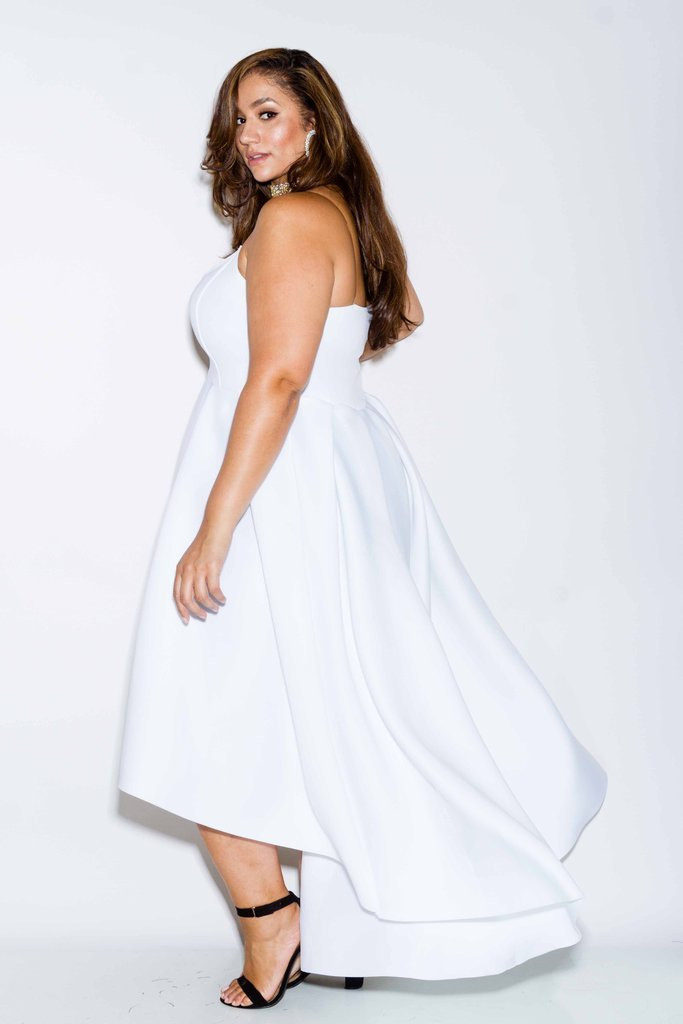 Plus Size Scuba Cute Flare Dress