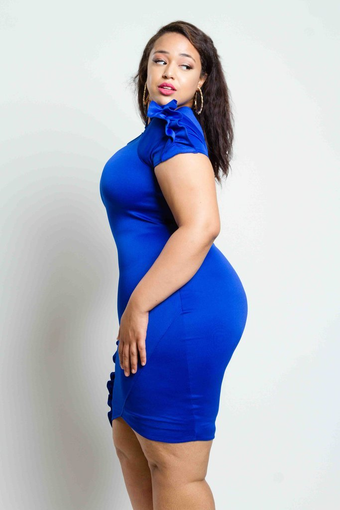 Plus Size Dress with Shirring Detail