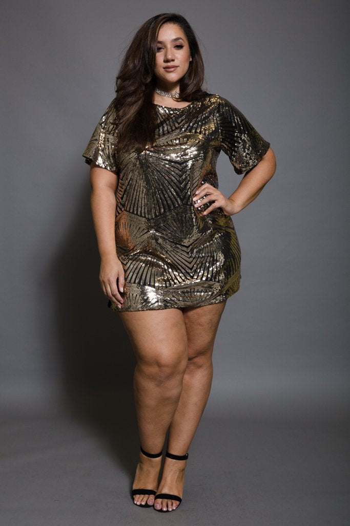 ad4e2bdc594 Plus Size Sparkling Sequin Tunic Dress – slayboo