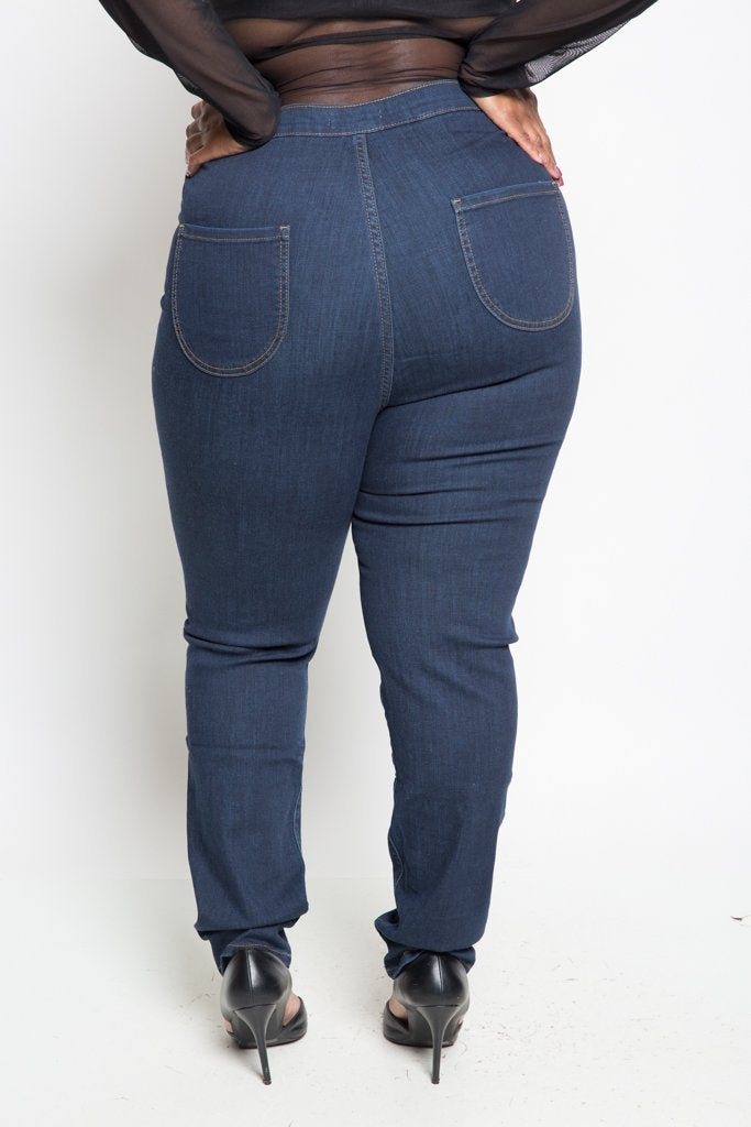 028e4988790 Plus Size Slimming High Rise Skinny Jeans – slayboo