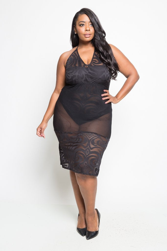 e4c443bcb00 Plus Size Sexy See Through Mesh Dress – slayboo