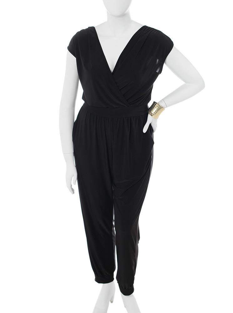 Plus Size Pleasure Trip Black Jumpsuit