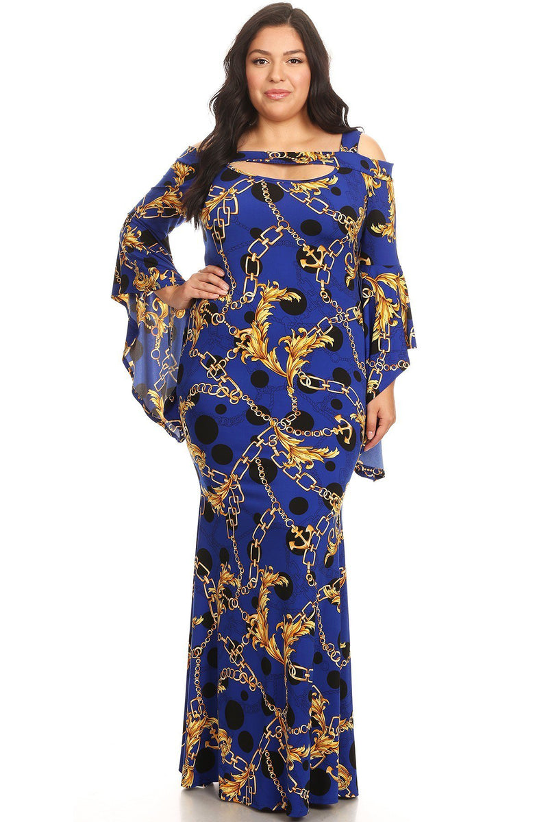 45d637e212941 Plus Size Chain Printed New Style Dress – slayboo
