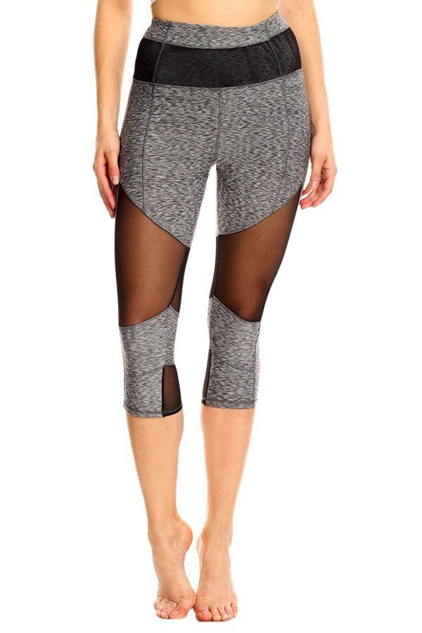 Solid Cropped Fitted Banded Leggings