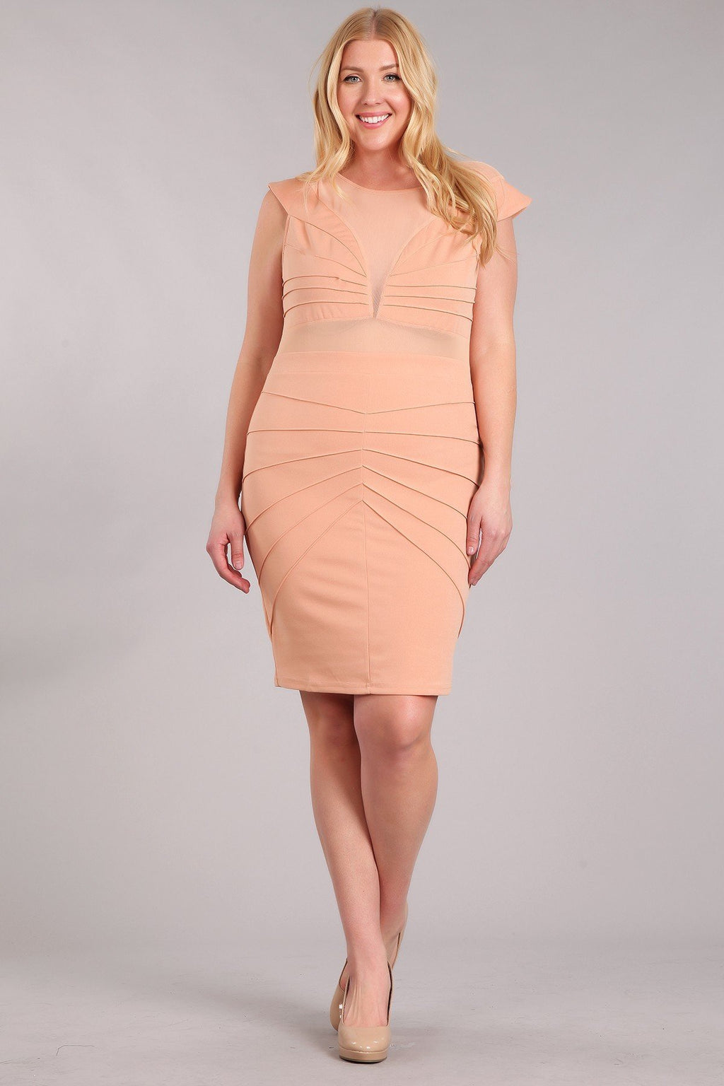 Plus Size Beautiful Solid Short Bodycon Dress