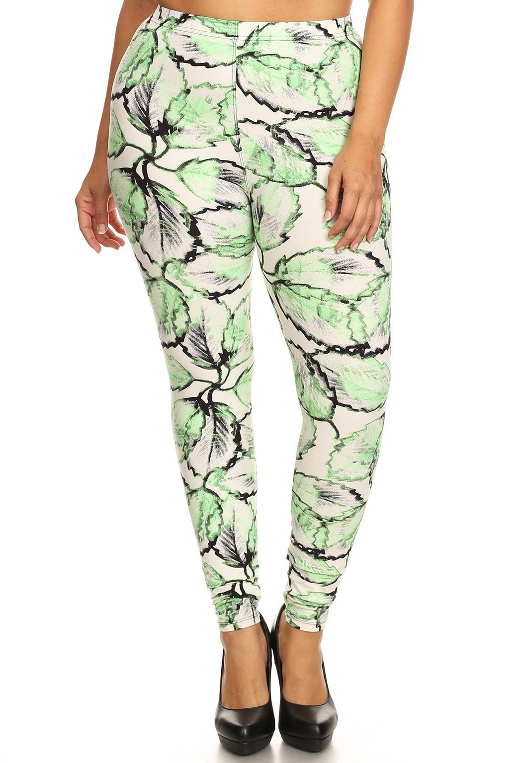 Plus Size Leaf Paradise Leggings