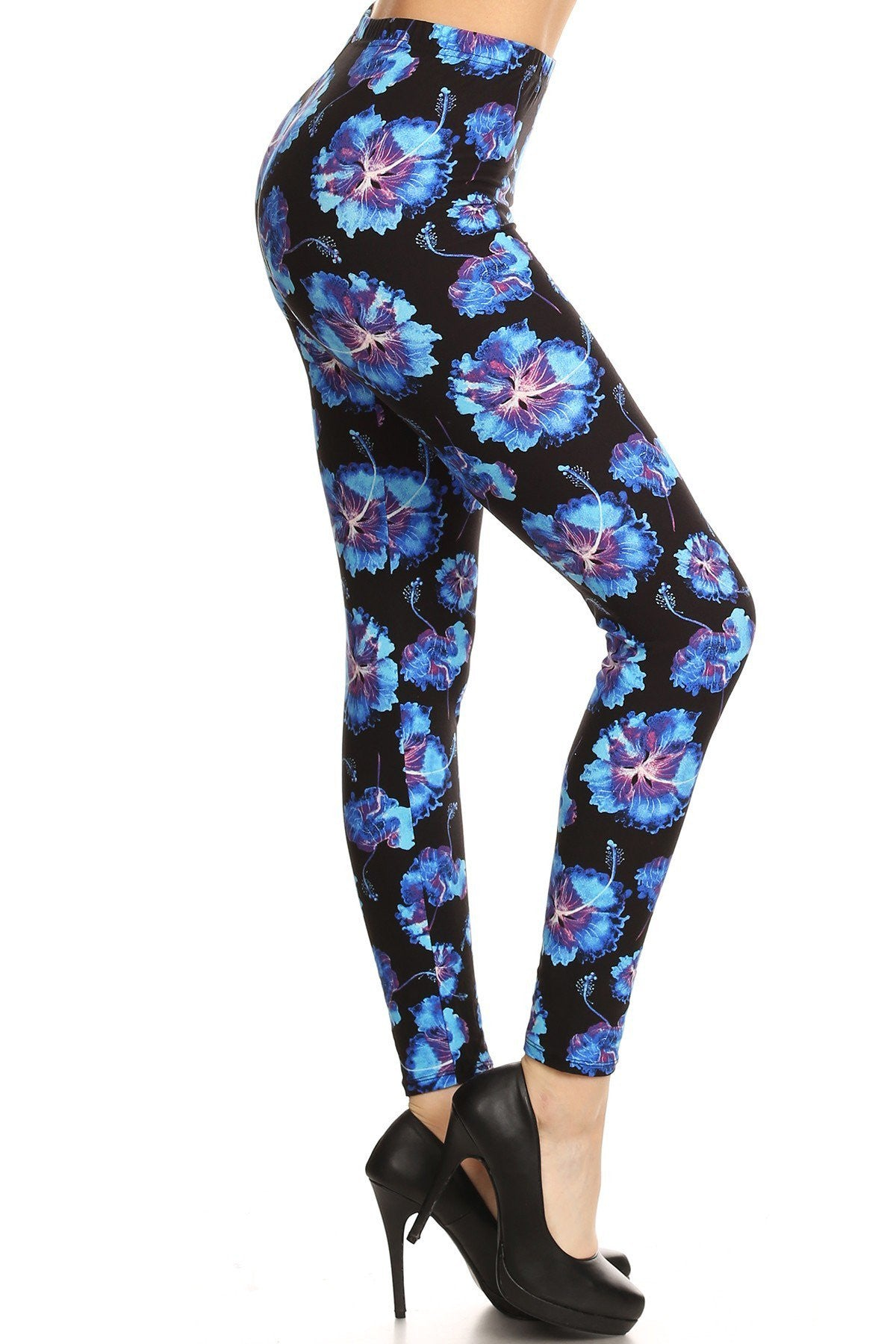 37a83374393 Hibiscus Printed Fit Style Leggings – slayboo