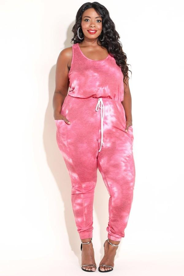 01e81d15a1c Plus Size Multi-colored Tie Dye Jumpsuit – slayboo