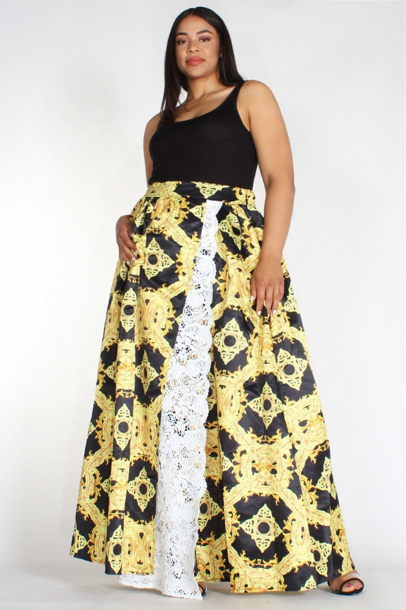 c6af11c20 Plus Size Maxi Skirts With Slits