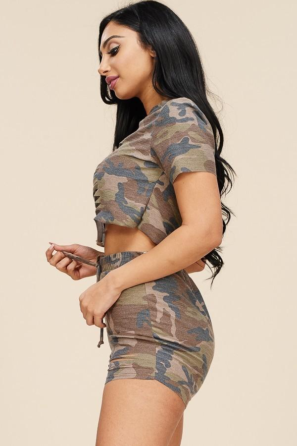 6576c2fefc3 Plus Size Laser Cut Camo Print Two Piece Set – slayboo