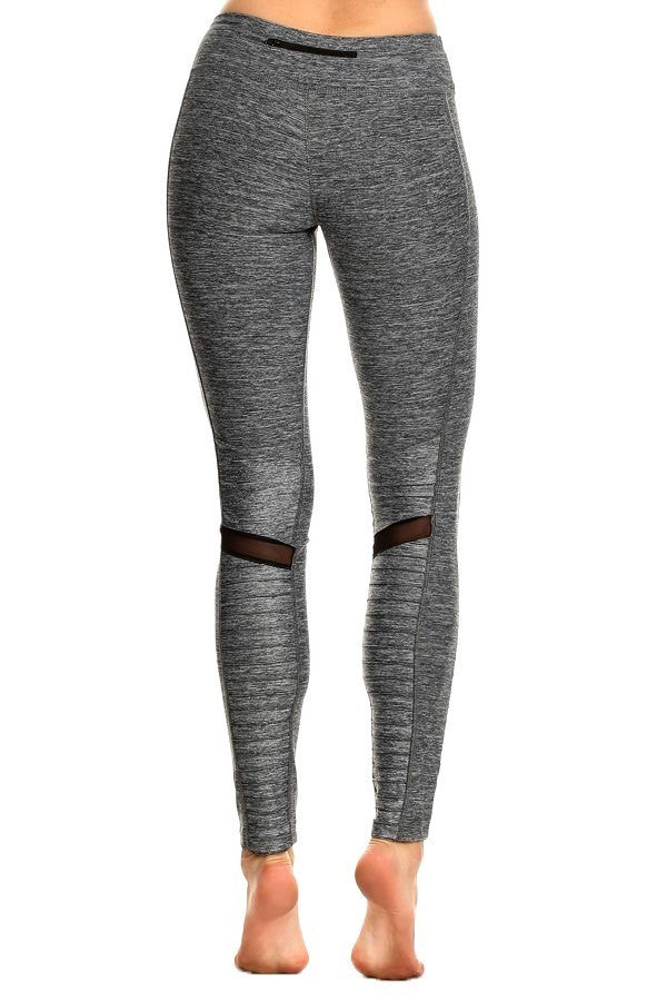 Moto-Inspired Quilted Mixed Matte Shine Mesh Leggings