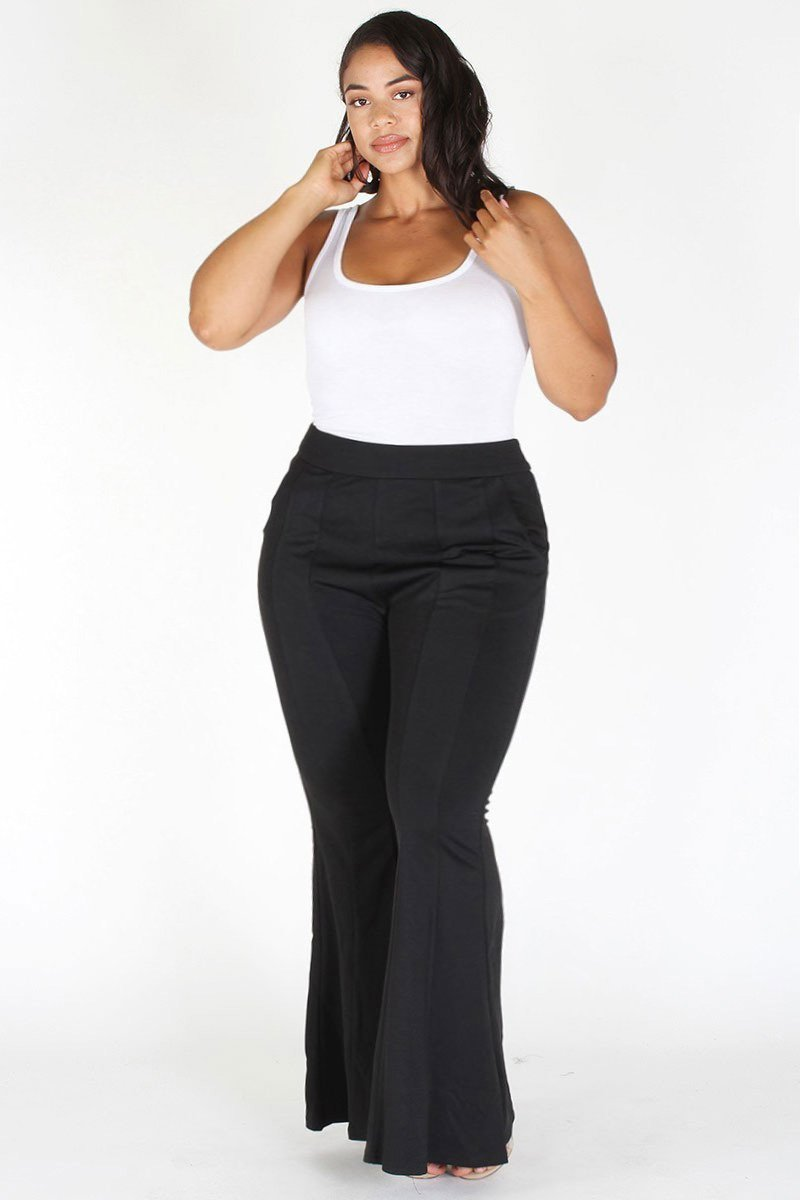 Plus Size Chic Bell Bottom Pants [PRE-ORDER 25% OFF]