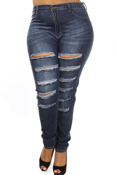 01eaed702f8 Plus Size High Waist Washed Out Denim – slayboo