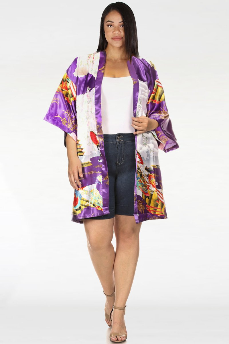 Plus Size Silky Art Queen Cardigan Kimono [SALE]