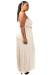 Plus Size Tube Top Belt Maxi Dress