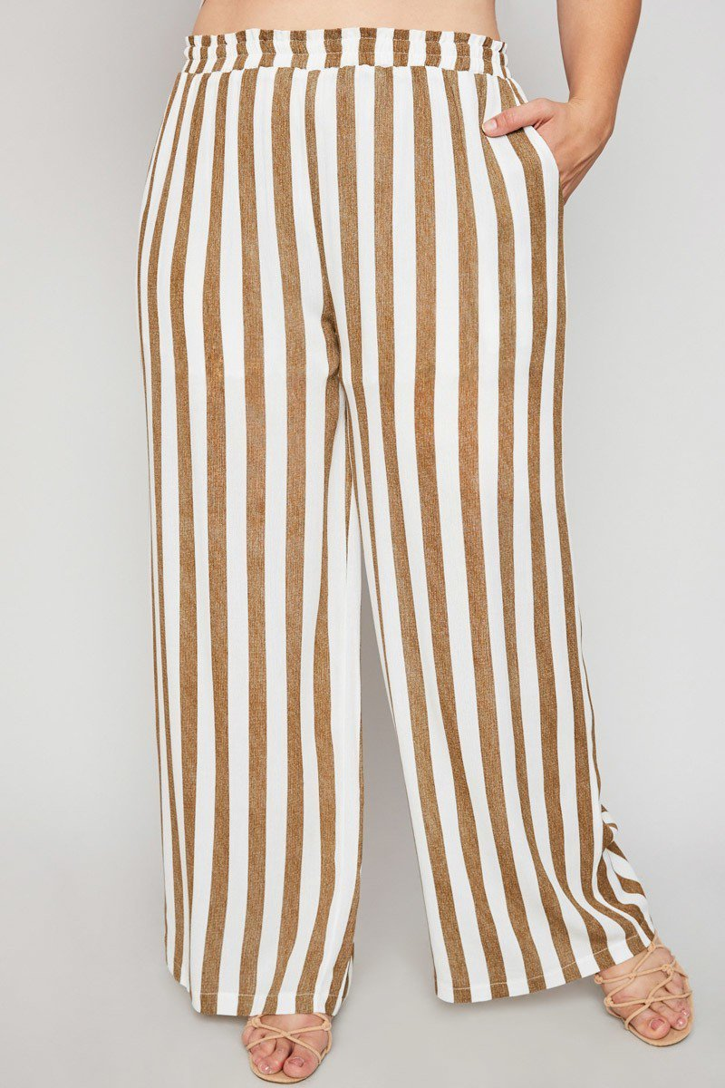 Plus Size Classy Stripe Relaxed Summer Pants