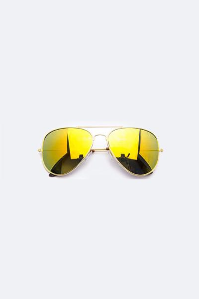 Trendsetter Mirror Tinted Aviator Gold/Yellow Sunglasses