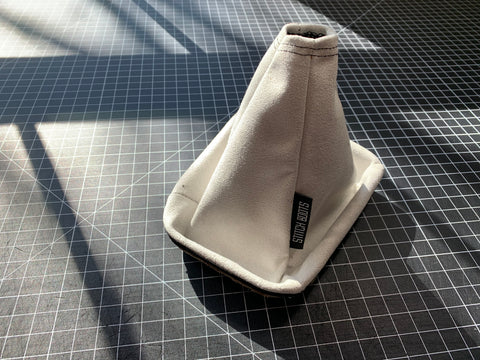 Frost White Suede Shift Boot