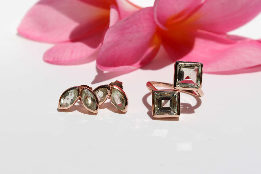 2017 OM Jewellery Collection - Green Amethyst & Rose Gold