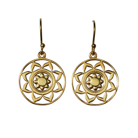 Belle Mare Earrings - Gold Mandala Medallions