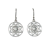 Belle Mare Earrings - Silver Mandala Medallions