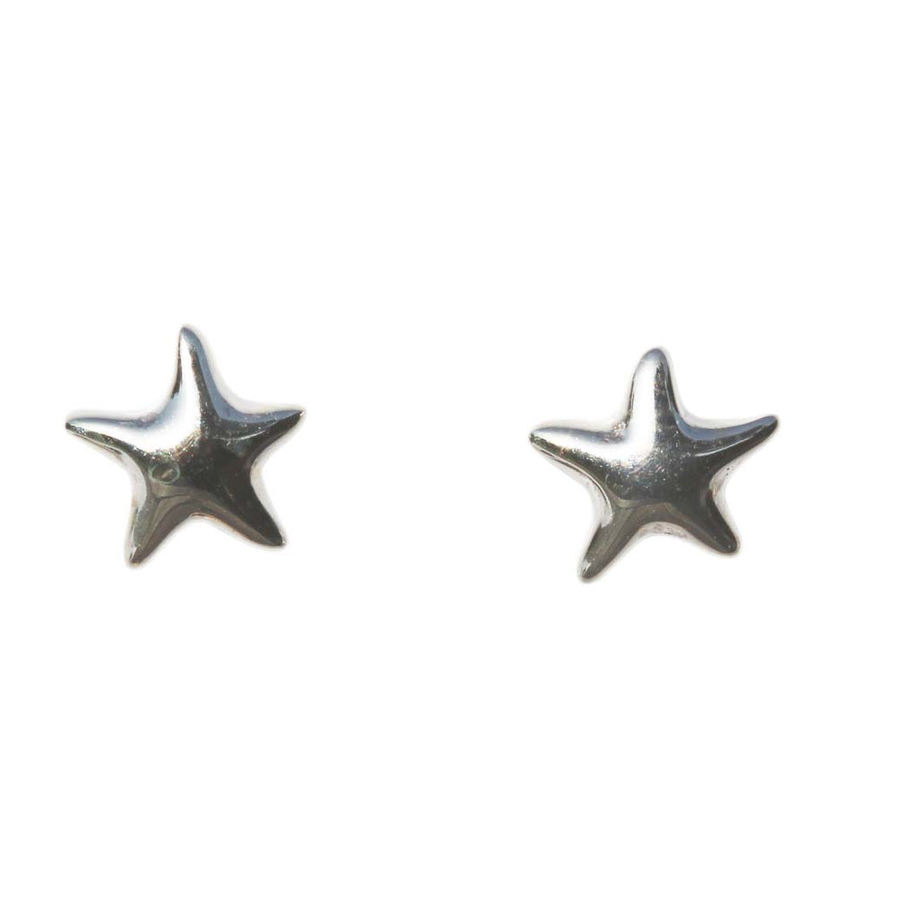 Azure Stud Earrings - Silver Starfish Studs