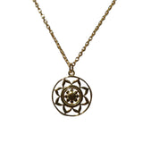 Belle Mare Necklace - Gold Mandala Medallion