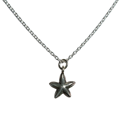 Aphrodite Necklace - Silver  Starfish Pendant