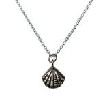 Aphrodite Necklace - Silver Scallop Shell Pendant