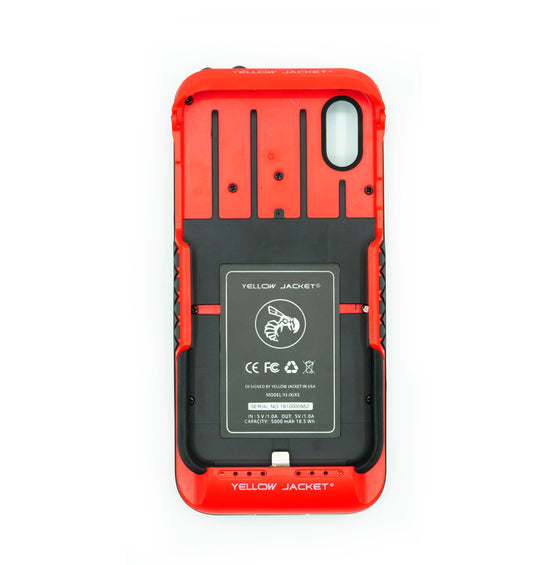 SOLD OUT - Yellow Jacket for iPhone X/XS - Urgent Red