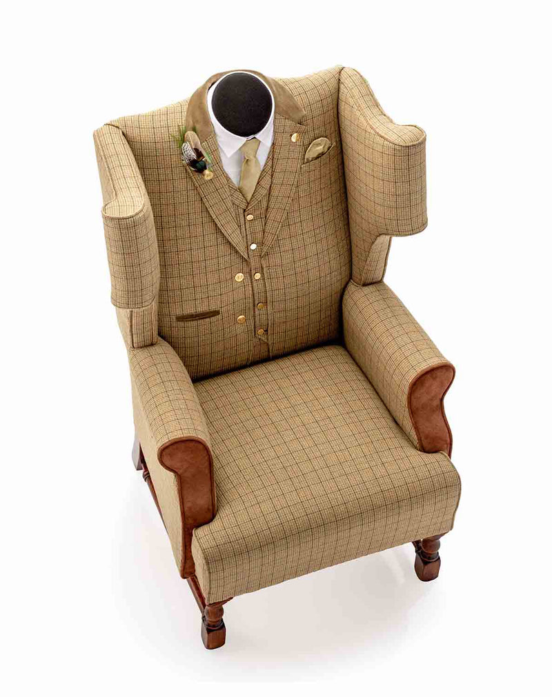 THE COUNTRY GENT TWEED WING CHAIR