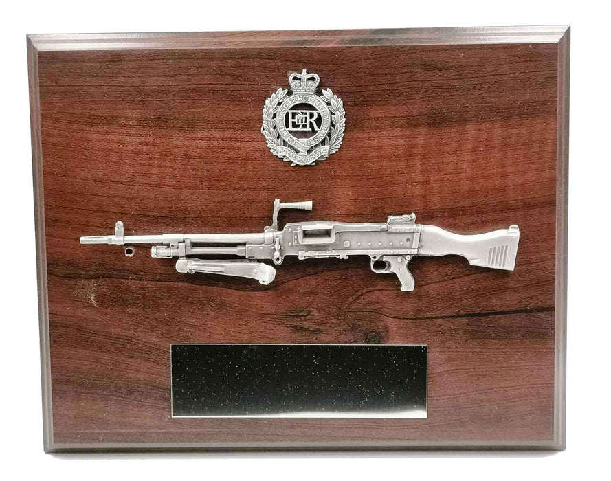 GPMG and CAP BADGE Large Wooden Military Plaque
