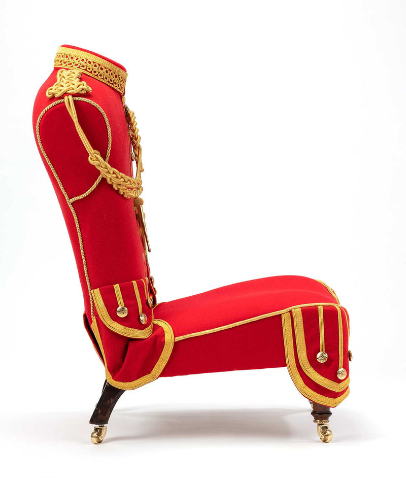 THE MAHARAJA Pipers Military Musicians Tunic Chair
