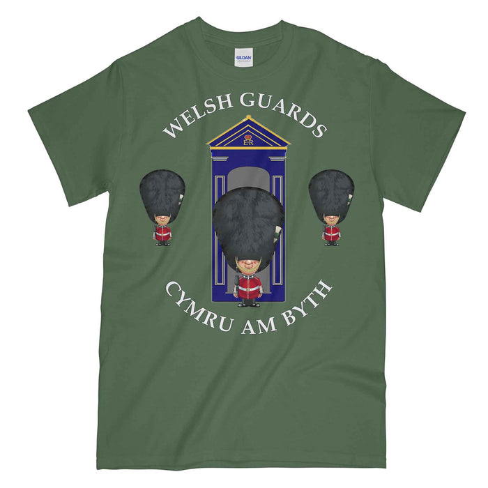 WELSH GUARDS on Sentry Military Printed T-Shirt