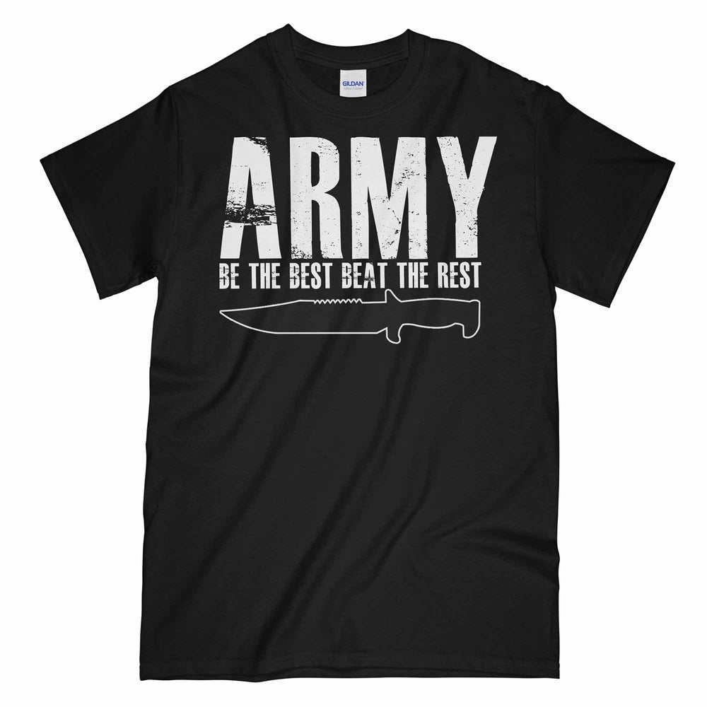 ARMY BE THE BEST BEAT THE REST Printed T-Shirt