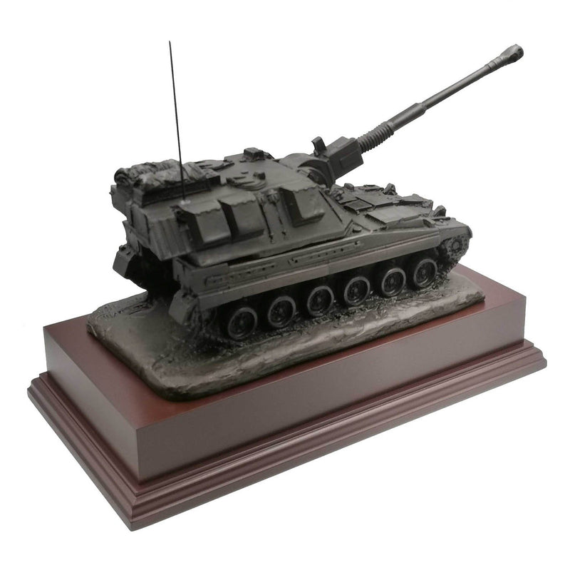 AS90 Self Propelled Gun Cold Cast Bronze Statue