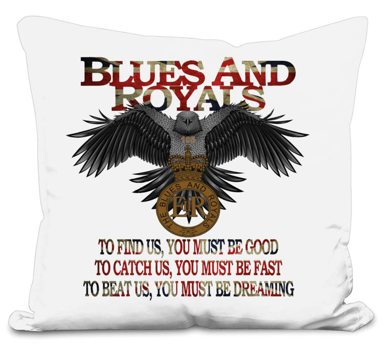 Blues and Royals Eagle 2 Side Printed Cushion Cover