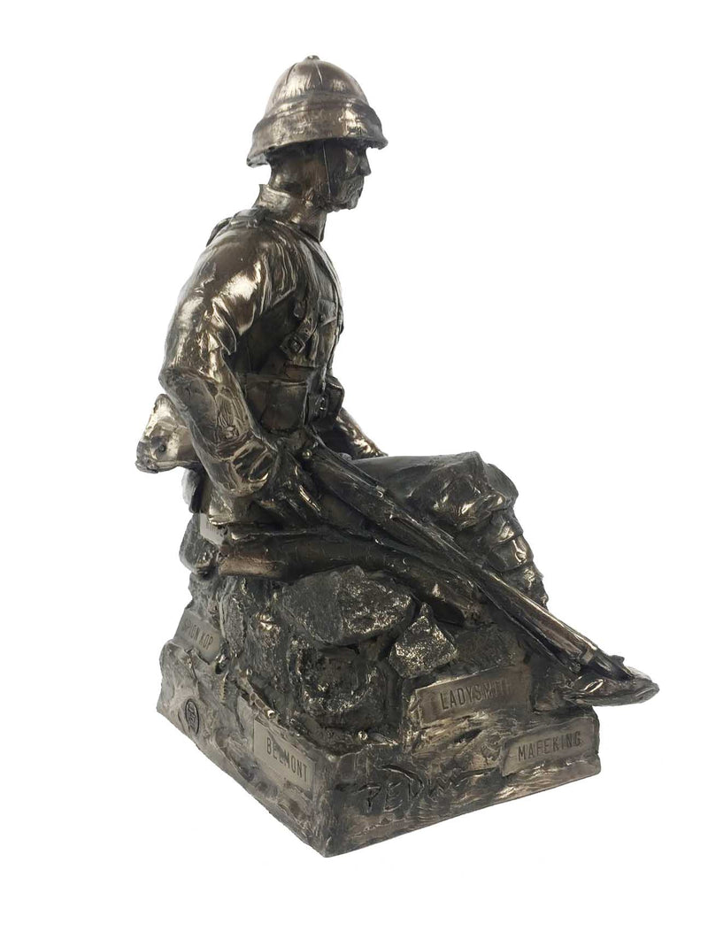 Boer War British Soldier Bronze Sculpture