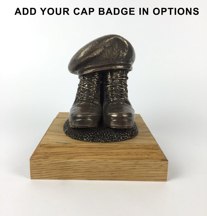 BOOTS AND BERET Cold Cast Bronze Statue (Add a Cap-badge and Engraving)