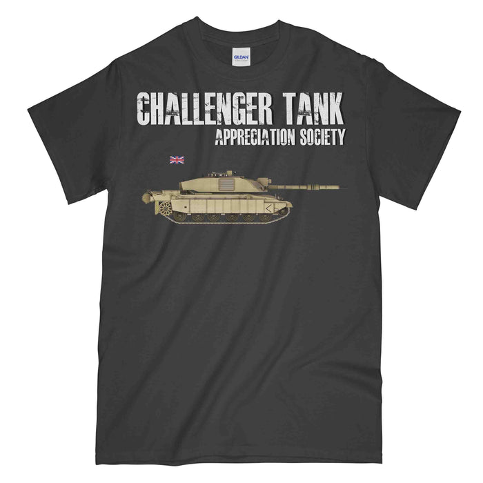 CHALLENGER TANK Appreciation Society Printed T-Shirt