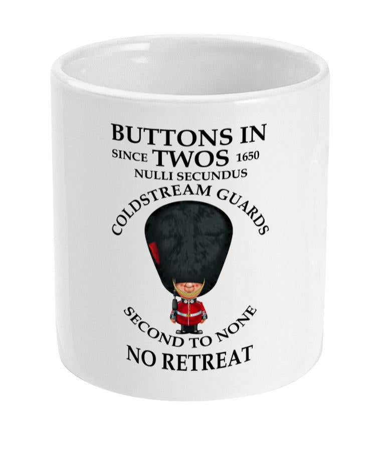 Coldstream Guards Buttons in Two's Ceramic Mug