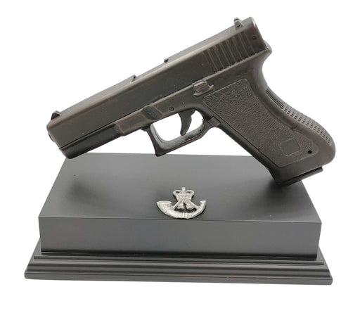 Glock Pistol Cold Cast Bronze Presentation