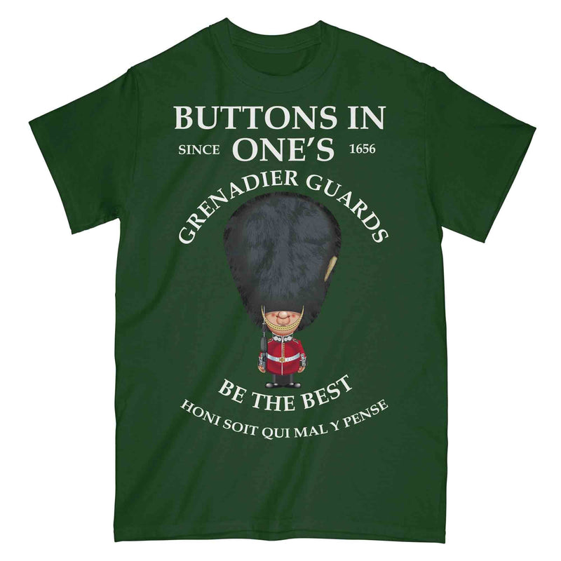 GRENADIER GUARDS BUTTONS IN ONE'S Military Printed T-Shirt