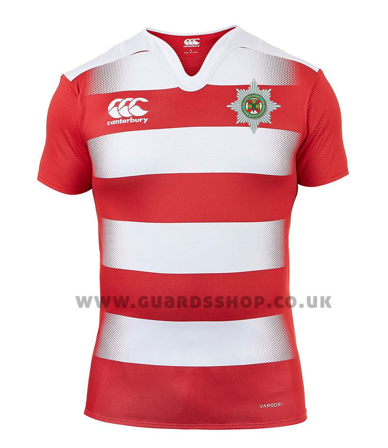 Irish Guards Canterbury Hooped Rugby Shirt
