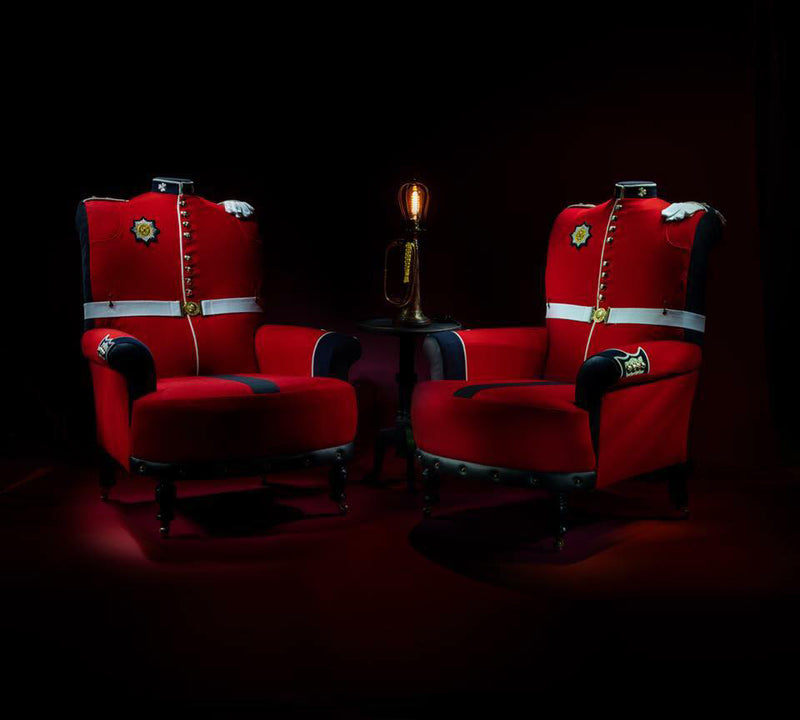Bespoke Military Uniform Themed Chairs (Contact Us for Pricing)