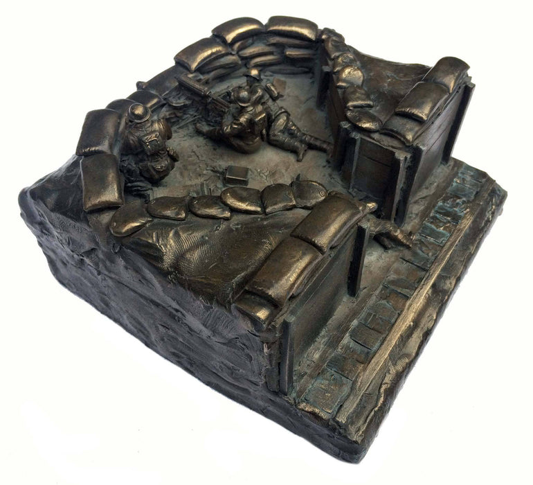 Military Statue - First World War Machine Gun Corps Cold Cast Bronze Military Statue Sculpture