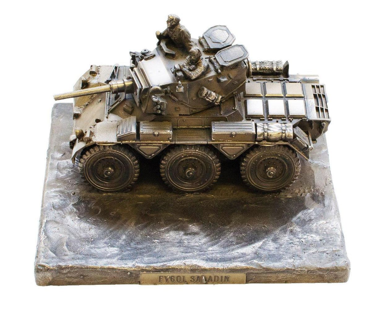 Military Statue - Saladin FV601 Armoured Car Cold Cast Bronze Military Statue